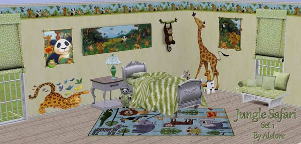 Sims 3 decor, object, kids, rug, stencils