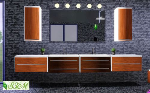 sims 3 updates - sims 3 marktplatz: bath modern - 8 new meshes by, Badezimmer ideen