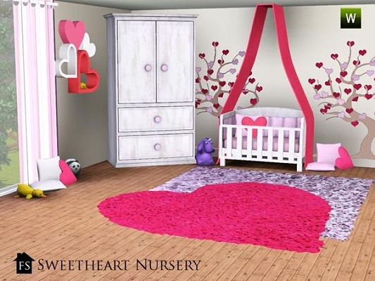Sims 3 updates the sims resource sweet heart nursery by
