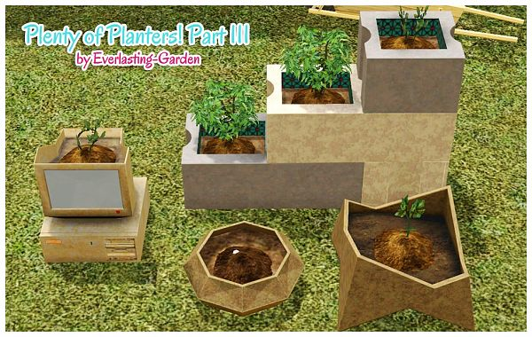 Sims 3 planters, objects