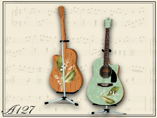 Sims 3 guitar, accessory