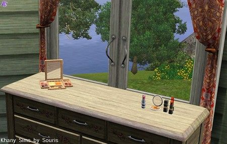 Sims 3 decor, makeup, set