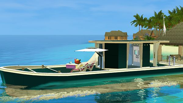 Sims 3 house, lot, residential, boat
