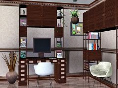 Sims 3 study, office, room