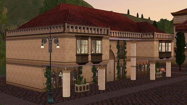 Sims 3 lot, community, SPA