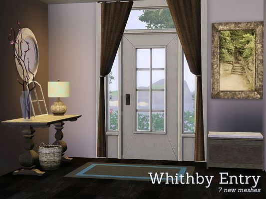 Sims 3 hallway, furniture, objects, decorative