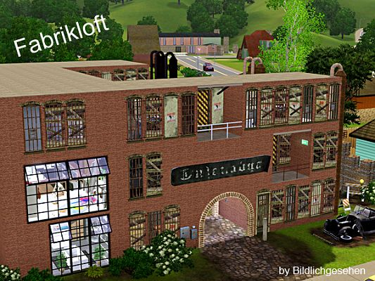 Sims 3 lot, community, factory