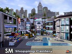 Sims 3 lot, center, shopping