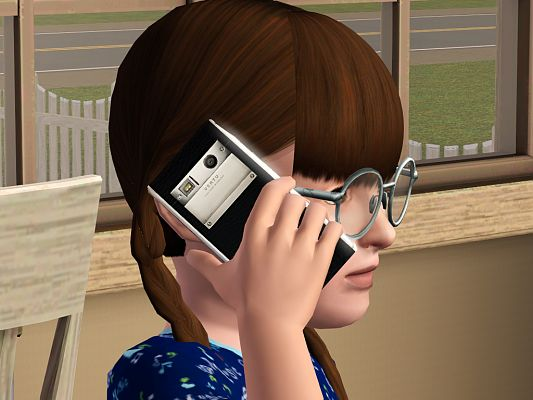 Sims 3 cell, mobile, phone, cellular