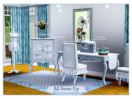 Sims 3 furniture, set, sewing