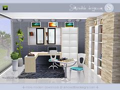 Sims 3 study room, furniture, objects, decor, sims3