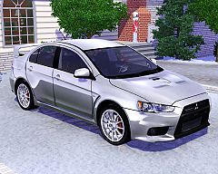 Sims 3 mitsubishi, lancer, evolution, car, cars