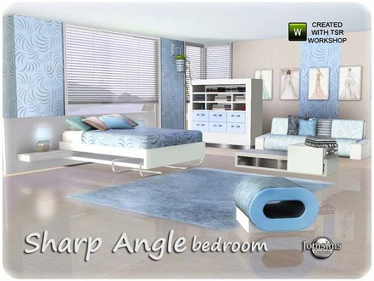 Sims 3 bedroom, furniture, bed