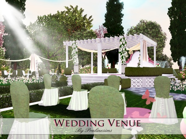 Sims 3 Updates The Sims Resource Wedding Venue By Pralinesims