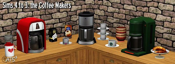 Sims 3 coffee maker, objects, appliances