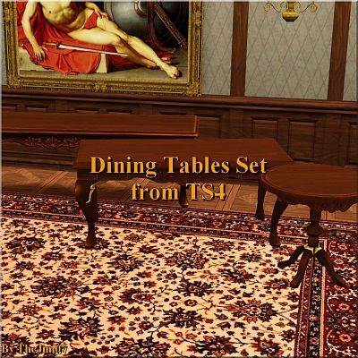 Sims 3 table, dining