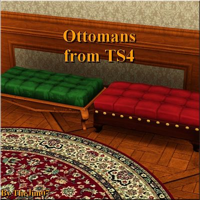 Sims 3 ottomans, chair, objects