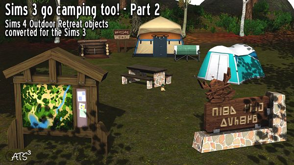 Sims 3 outdoor, objects