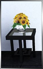 Sims 3 sunflower, flowers, vase, deco, plant