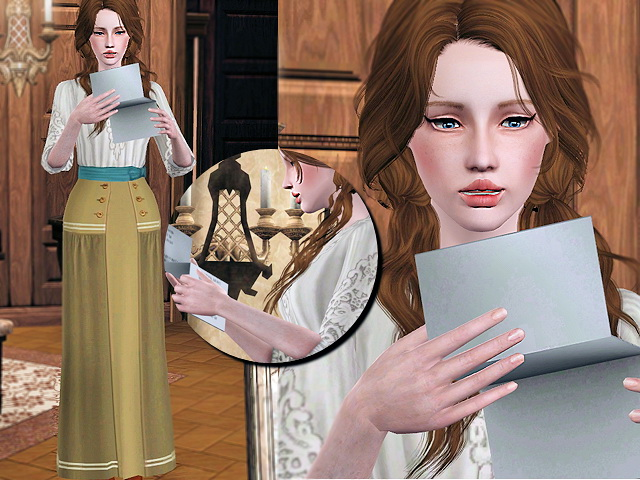 Sims 3 Updates - Sims Fans: Reading letters With love poses