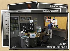 Sims 3 police, station, objects