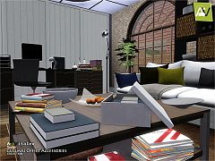 Sims 3 office, decor, objects