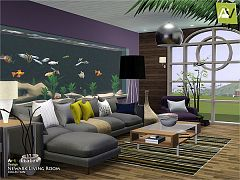 Sims 3 livingroom, living, furniture