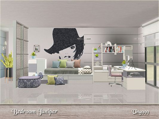 Sims 3 bedroom, furniture