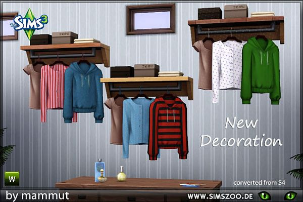 Sims 3 decor, objects, wardrobe