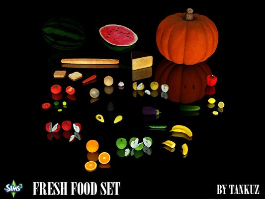 Sims 3 food, fruits