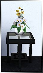Sims 3 flowers, daisy, plant, vase, decor