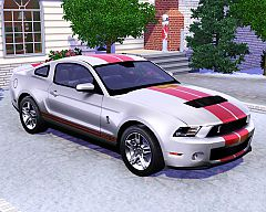 Sims 3 ford, mustang, shelby, g.t.500, car, cars