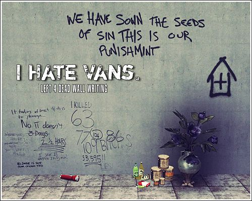 Sims 3 Updates - Club Crimsyn: I Hate Vans - Left 4 Dead Wall ...