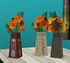Sims 3 flowers, bouquet, poppy, decor
