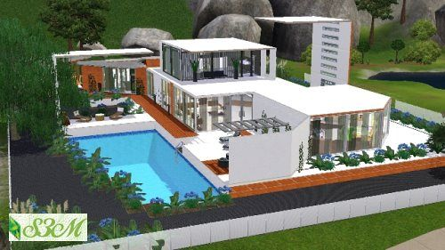 Sims 3 Jardin De Style. Danae House By At Sims Artists Via Sims ...