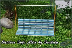 Sims 3 outdoor, sofa, furniture