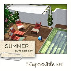 Sims 3 outdoor, decor, furniture