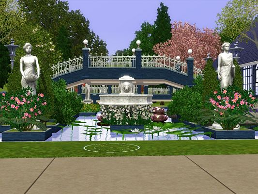 Sims 3 community, lots, build, pool