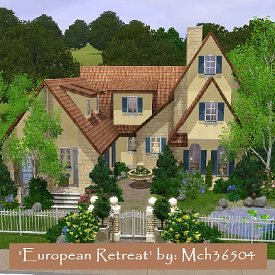 Sims 3 house  lot  architecture  home  design. Sims 3 Updates   The Sims Resource  European Retreat by mch36504