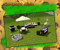 Sims 3 objects, set, outdoor, garden, set