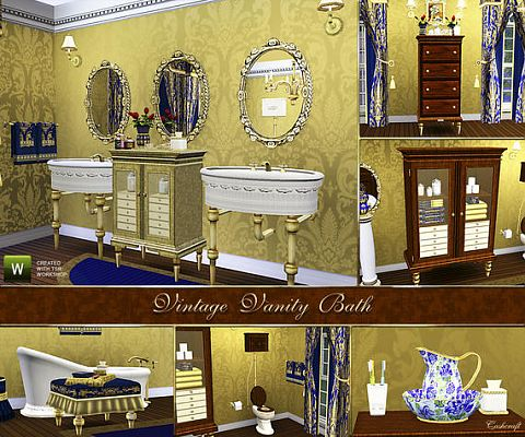 Antique Bathroom Vanities on Updates   The Sims Resource  Vintage Vanity Bath By Cashcraft At Tsr