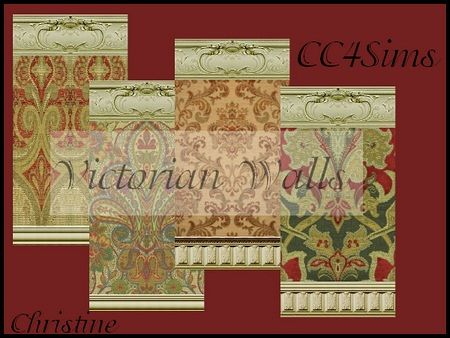 Victorian Walls sims 3 updates - cc4sims: victorian wallschristine