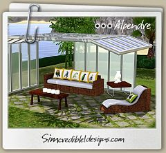 Sims 3 outdoor, furniture, decor