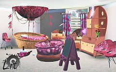 Sims 3 kids, bedroom, furniture, decor