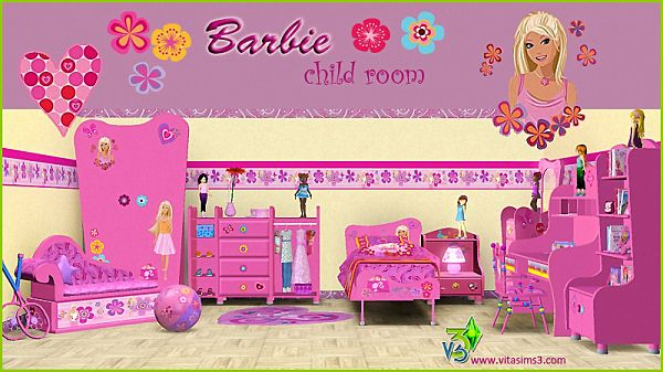 Sims 3 Kids, Bedroom, Barbie, Toys