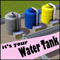Sims 3 water, tank, object, decor, outdoor