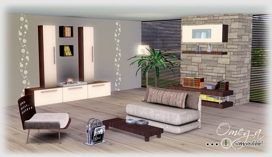 Sims 3 Updates Simcredible Designs Omega Livingroom