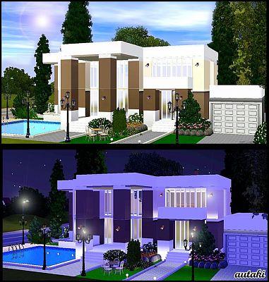 Design luxury house simshousemodern mountain home for Sims 3 salon moderne