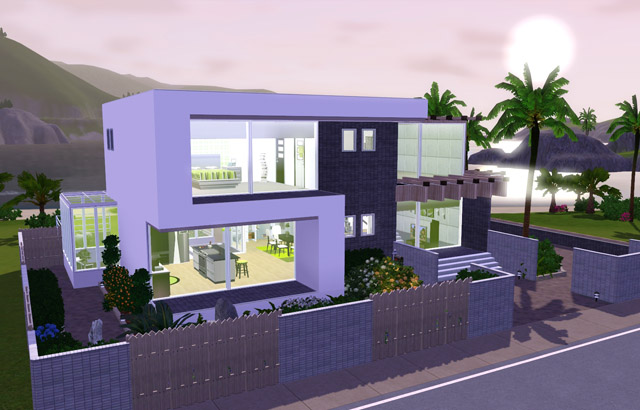 Home design interior singapore sims 3 modern house for Beach house plans sims 3