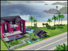 Sims 3 house, lot, residential, architecture, home
